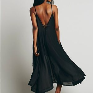 Dresses - Double Layered High Low Slip DRESS Black White